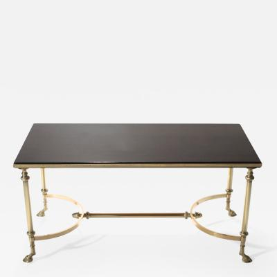 Maison Charles Neoclassical Maison Charles brass and lacquer coffee table 1960s