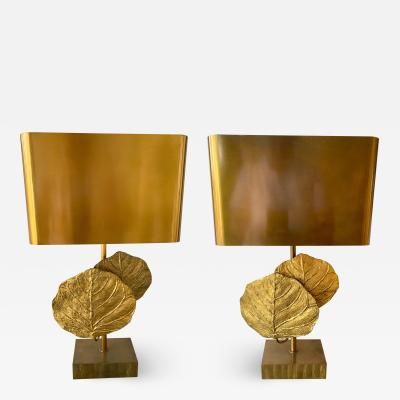 Maison Charles Pair of Lamps Bronze Guadeloupe by Maison Charles Bronze 1970s France
