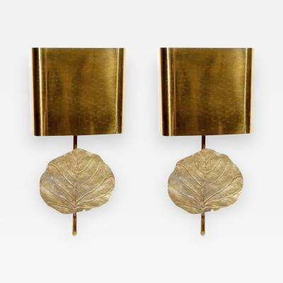 Maison Charles Pair of sconces leaf by Maison Charles
