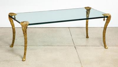 Maison Charles Palm Dore Bronze Low Table by Maison Charles