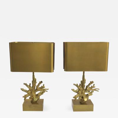 Maison Charles Signed Pair of Maison Charles Table Lamp