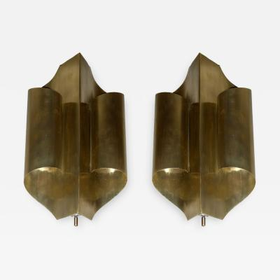 Maison Charles Two 1970s sconces in the style of Maison Charles