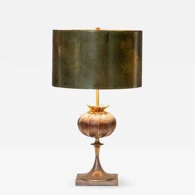 Maison Charles Very elegant bronze table lamp Signed Maison Charles