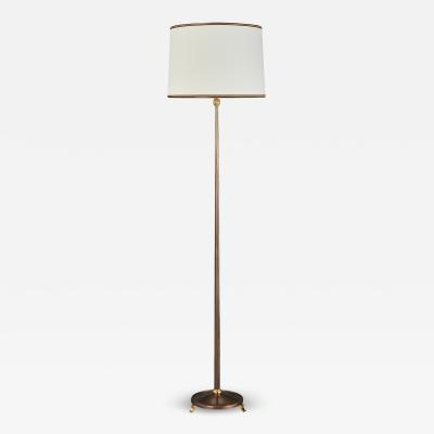 Maison Delisle Exquisite Delisle Bronze Floor Lamp France 1950s