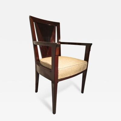 Maison Dominique Maison Dominique Stamped Tarets Desk Chair in Rosewood Mahogany