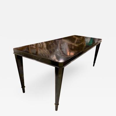 Maison Dominique Maison Dominique long documented black lacquered refined coffee table