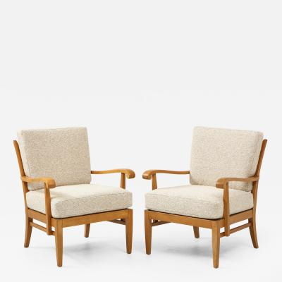 Maison Gouff Pair of Maison Gouff Armchairs France c 1940 labeled numbered