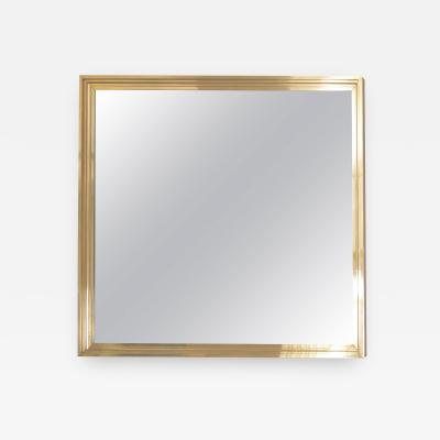 Maison Jansen 1 of 2 XXL Huge Brass Mirror in the Manner of Maison Jansen