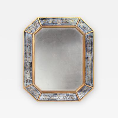 Maison Jansen A Chic French Maison Jansen Octagonal Gilt Wood and Eglomise Mirror
