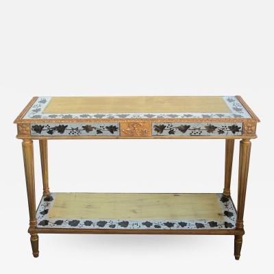 Maison Jansen A French Maison Jansen Neoclassical Style 1940s Eglomise Console Table