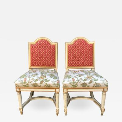 Maison Jansen Antique Louis XVI Maison Jansen Side Chairs a Pair