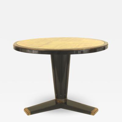 Maison Jansen Custom Mid Century French Style Ebonized Center Table