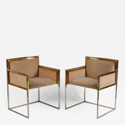 Maison Jansen Exceptional Pair of Armchairs by Alain Delon for Maison Jansen