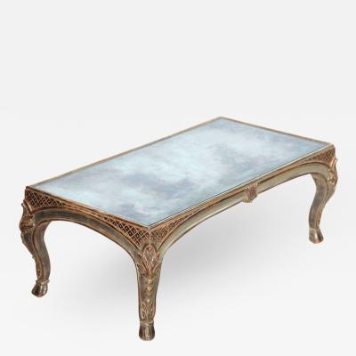 Maison Jansen Fine Maison Jansen Silver Leaf Rococo Style Low Table 1940s