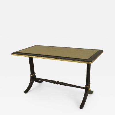 Maison Jansen French 1940s Ebonized and Gilt Trimmed Rectangular Coffee Table
