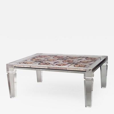 Maison Jansen French 1940s Lucite Rectangular Coffee Table