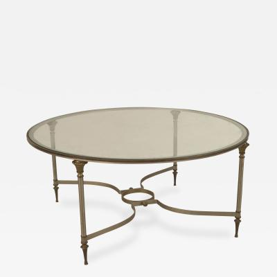 Maison Jansen French 1940s Round Metal Coffee Table