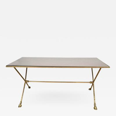 Maison Jansen French 1950s Brass Cocktail Table in the Manner of Maison Jansen