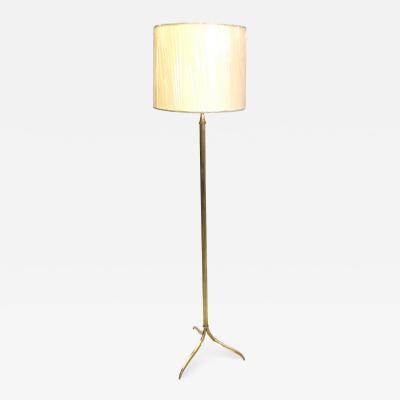 Maison Jansen French Mid Century Modern Neoclassical Brass Floor Lamp by Maison Jansen