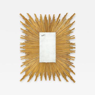 Maison Jansen French Mid Century Sunburst Mirror