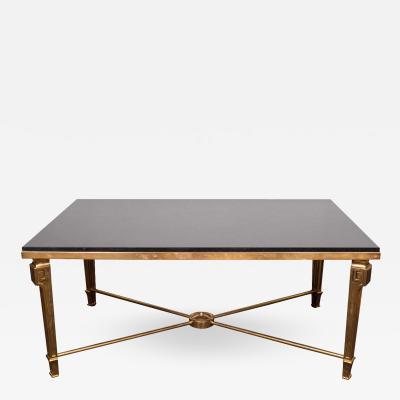 Maison Jansen Gorgeous Maison Jansen Black Marble and Bronze Coffee Table