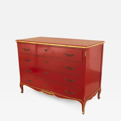 Maison Jansen Jansen French 1940s Louis XV Style Lacquered Chest