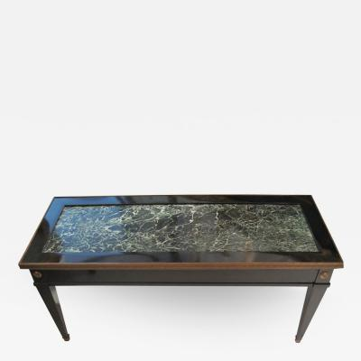 Maison Jansen Jansen Marble Top Coffee Table in the Directoire Manner