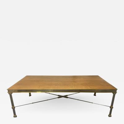 Maison Jansen Large Maison Jansen Style Brass and Steel Dining Table