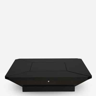 Maison Jansen MAISON JANSEN PETALES BLACK LACQUER COFFEE TABLE