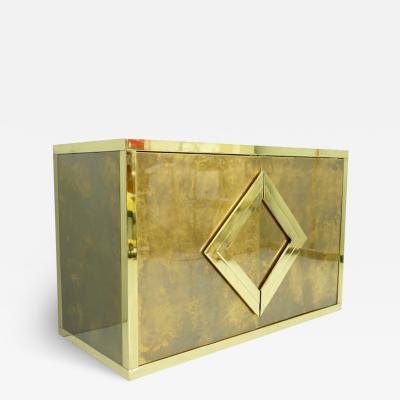 Maison Jansen Maison Jansen Brass Sideboard Credenza France 1970s