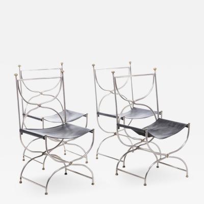 Maison Jansen Maison Jansen Leather chairs