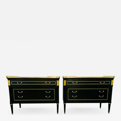 Maison Jansen Maison Jansen Style Hollywood Regency Mounted Commodes Nightstands or Cabinets