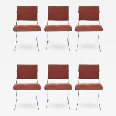 Maison Jansen Maison Jansen Suite of Six Chairs Metal circa 1960 France