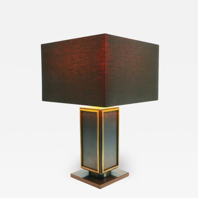 Maison Jansen Maison Jansen Table Lamp In Steel and Brass
