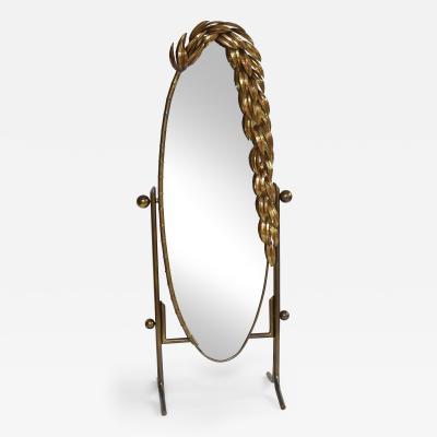 Maison Jansen Maison Jansen mid century brass mirror