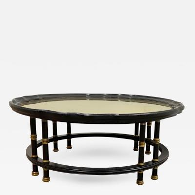 Maison Jansen Maison Jansen multi leg black lacquered and gold bronze accent coffee table