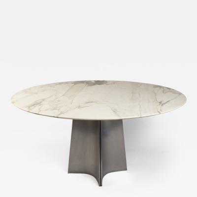 Maison Jansen Marble and Steel Center Table by Maison Jansen France 1970s