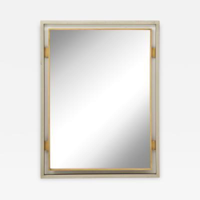 Maison Jansen Modernist Mirror by Guy Lefevre for Maison Jansen France 1970s