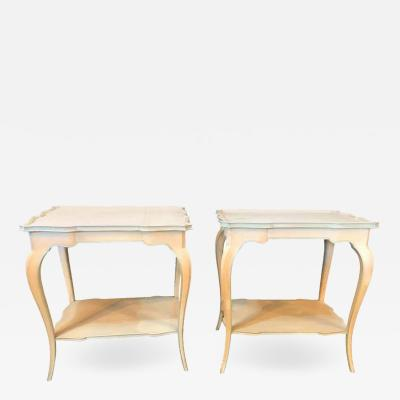 Maison Jansen Pair of Distressed Paint Decorated Maison Jansen Side Tables or Night Tables