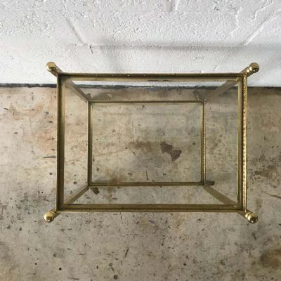Maison Jansen Pair of Maison Jansen Brass and Glass Two Tier Rolling Occasional Tables or Cart