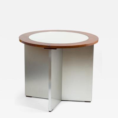 Maison Jansen Pair of Rare Modernist Side Tables by Jansen 1970s