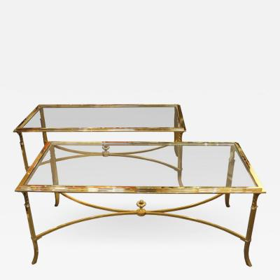 Maison Jansen Pair of coffee tables Maison Jansen France circa 1980