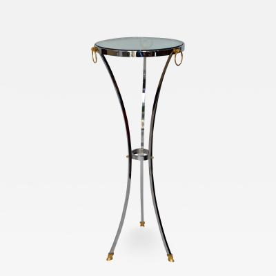 Maison Jansen Pedestal in Chrome and Brass by Maison Jansen France