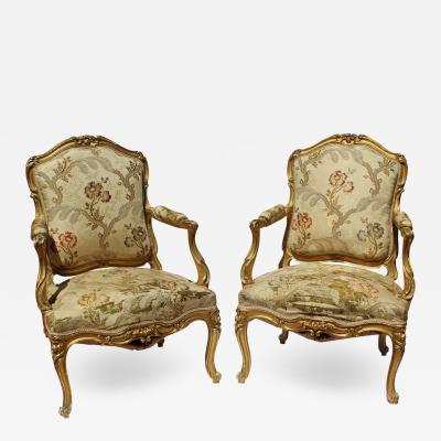 Maison Jansen Pr Of Maison Jansen Arm Chairs Signed Louis XV Style Late 19c