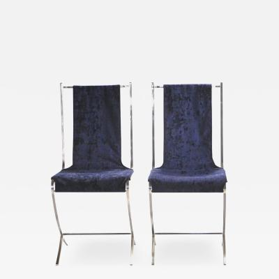 Maison Jansen Rare pair of chairs by Pierre Cardin for Maison Jansen 1970s