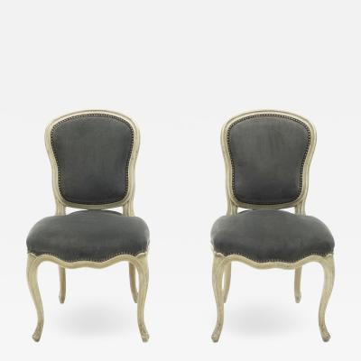 Maison Jansen Rare pair of stamped Maison Jansen Louis XV neoclassical chairs 1940s