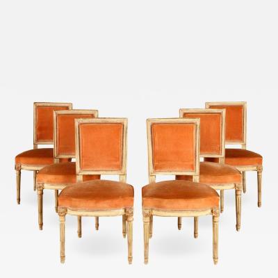Maison Jansen Set of 6 Louis XVI Jansen Dining Chairs