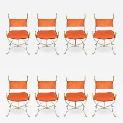 Maison Jansen Set of 8 dining chairs by Maison Jansen