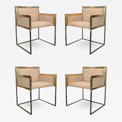 Maison Jansen Set of Four Armchairs by Alain Delon for Maison Jansen