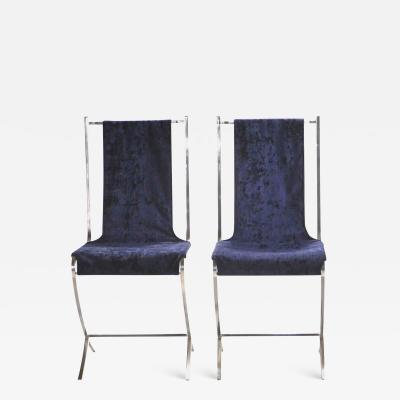 Maison Jansen Set of four chairs by Pierre Cardin for Maison Jansen 1970s